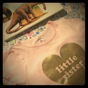 Carter's Pink Little Sister Heart Graphic Shirt